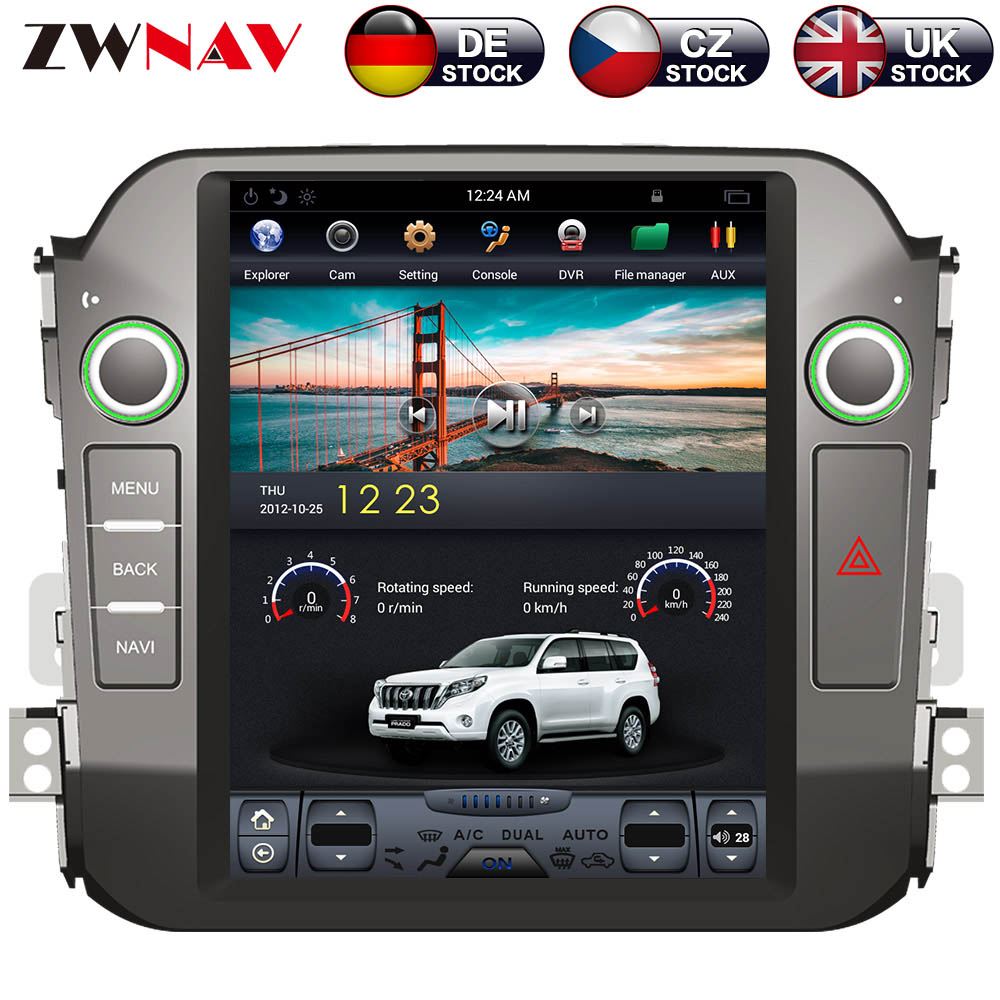 ZWNVA Tesla Style IPS Plus Screen Android 7.1 Car No DVD Player GPS Navigation For Kia Sportage R 2010 2011 2012 2013 2014 2015