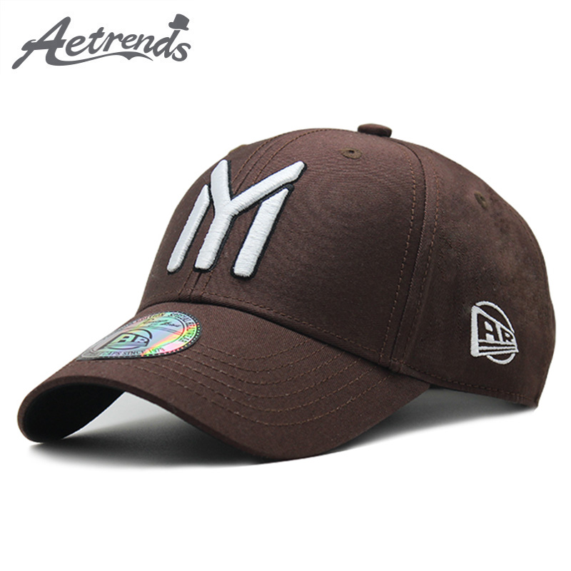[AETRENDS] Branded Baseball Cap For Men Women Youth Snapback Hip Hop Hat With Logo Sport Mens Hats And Caps Bone Baseball Z-6393