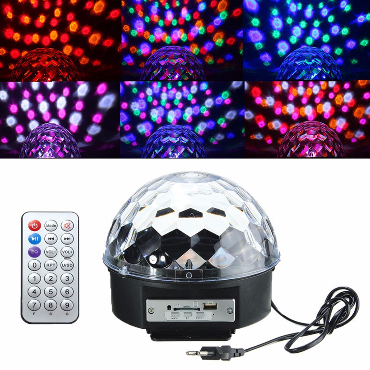 Jiguoor Digital LED RGB Crystal Magic Ball Effect Light for Christmas Halloween Stage Party Disco DJ Bar Lighting AC110V-240V 2016 new high quality digital effects lights stage lighting digital displays led magic balls hot