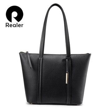 Realer large tote bag women shoulder bag designer handbags high quality messenger bag ladies soft artificial leather female shoulder bag