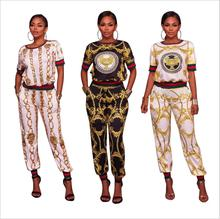 Summer Traditional African Clothing 2 Piece Set Women Africaine Print Dashiki Dress African Clothes indian bazin riche femme002