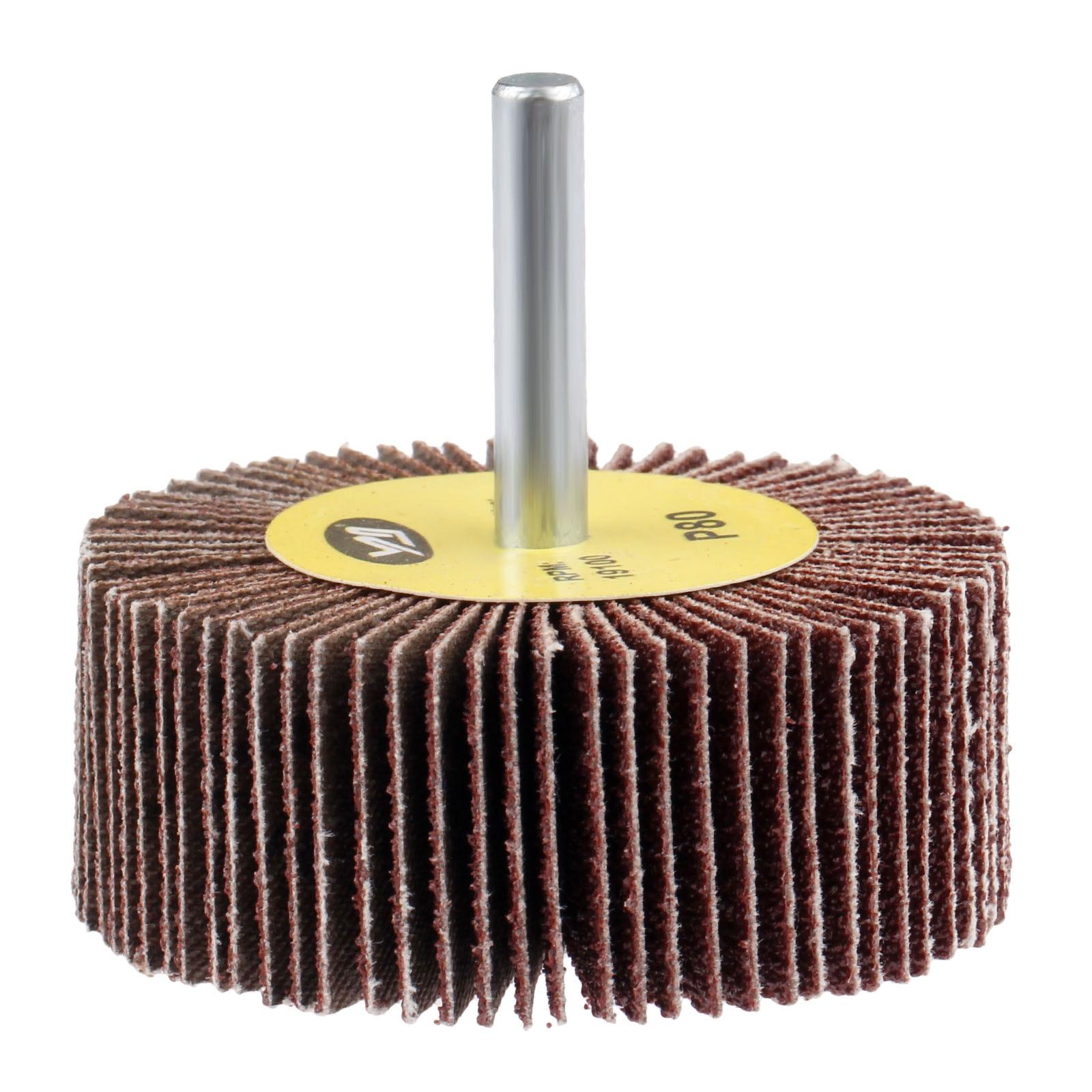 DRELD 1Pc 80-Grit 60mm Sanding Flap Wheels Buffing Grinding Flap Wheels Brush Sandpaper For Rotary Tools Dremel Accessories