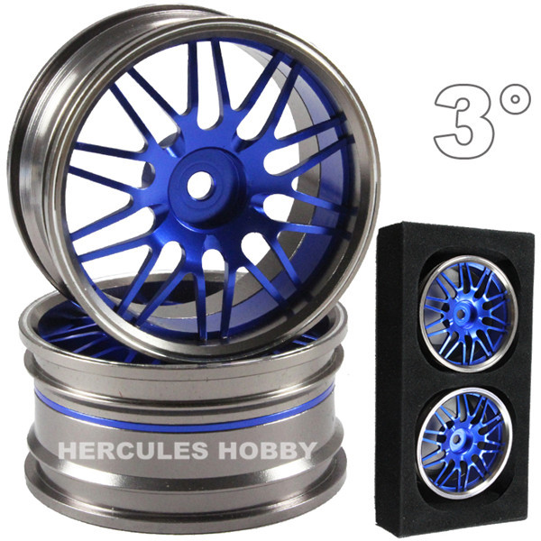4pcs Aluminum Alloy CNC Machined RC Wheels for Drift Touring On road Cars 1 10