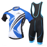 Good Deal XINTOWN Men S Summer Breathable Cycling Jersey Bike Short Sleeve T Shirt Padded Shorts