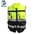 HZYEYO ropa Reflectante de seguridad de La Motocicleta Bicicleta de Carreras de Tela Reflectante De Advertencia de Alta Visibilidad Chaqueta Chaleco D9906