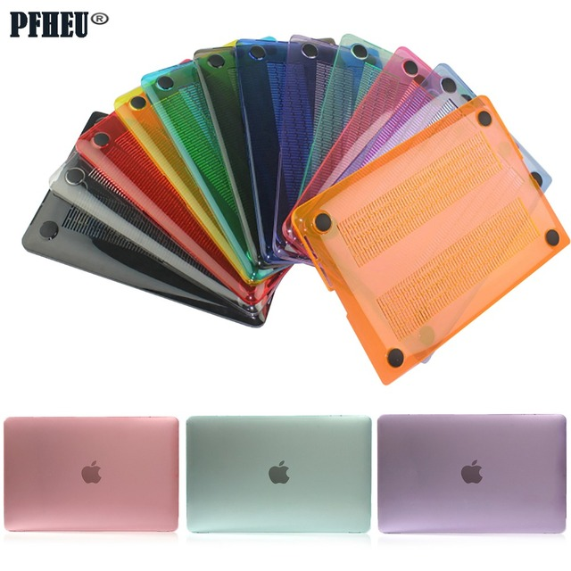 Hot sale Crystal Transparent Case For Macbook Pro Retina Air 11 12 13 15 For Mac Air 13 New pro 13 15 Laptop Cover shell