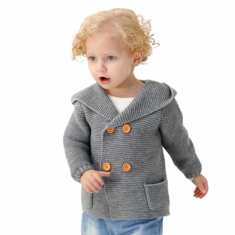 Baby Jongens Truien Kids Kleding Herfst 2018 Kinderen Lange Mouw Hooded Knit Jumper Peuter Gebreide Vest Pull Enfant Garcon