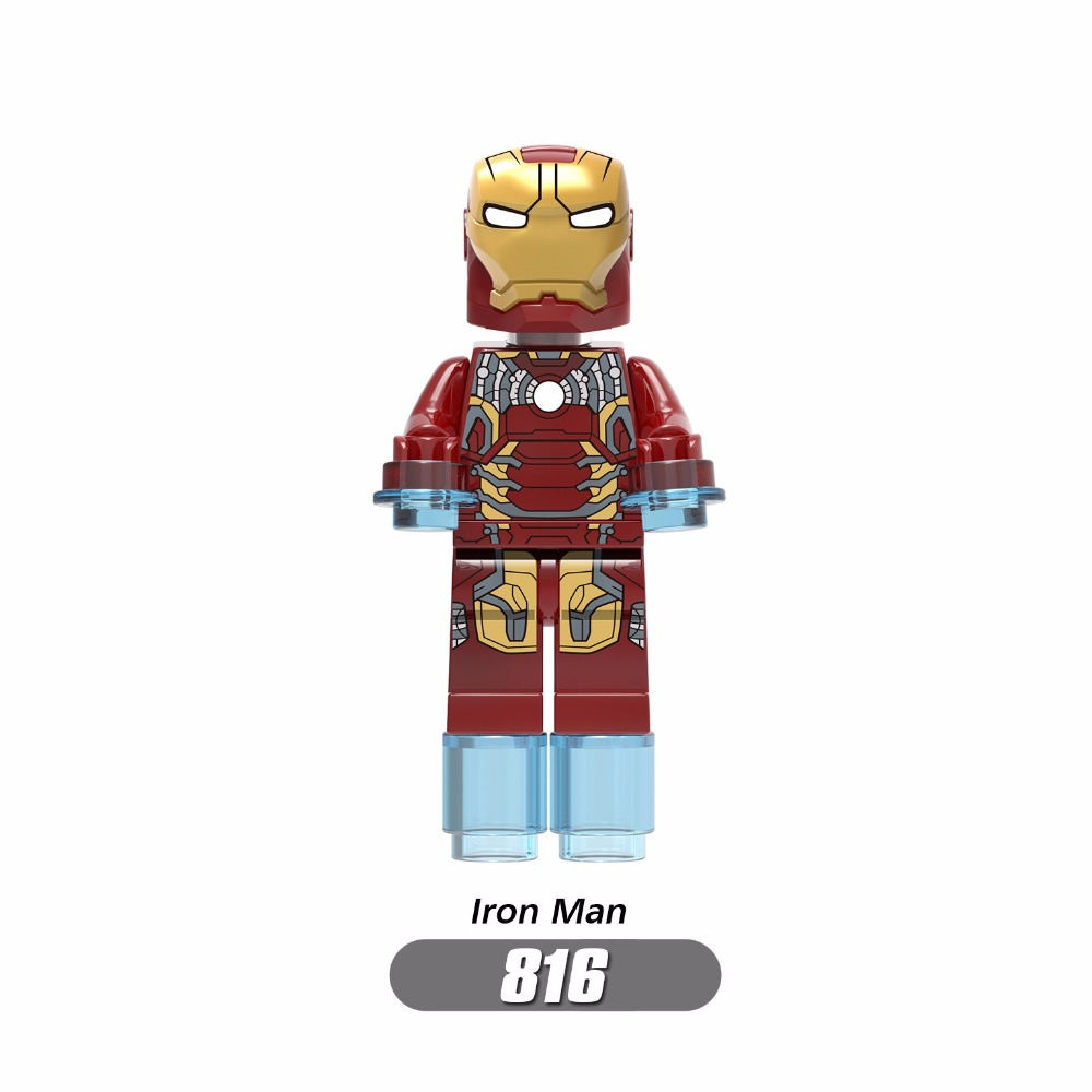 For legoing Marvel Super Heroes Avengers Iron Man Hulk Thanos Spider Man Doctor Strange Thor Building Blocks Toys Figures