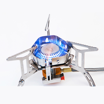 Widesea Wind proof outdoor gas burner camping stove lighter tourist equipment kitchen cylinder propane grill 5