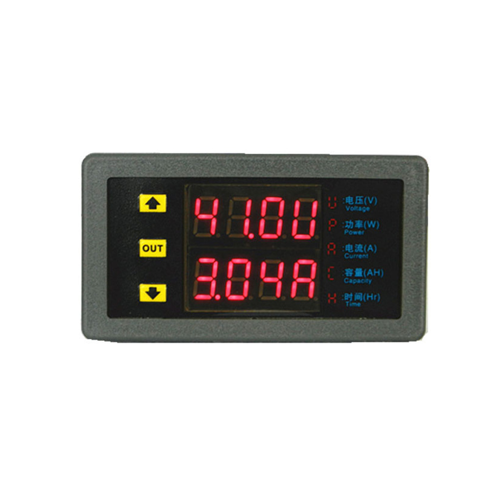 цены DC0-75V 20A Multifunction Dual Display Digital Voltmeter Voltage Meter Electric Vehicle Power Meter DC Digital Ammeter