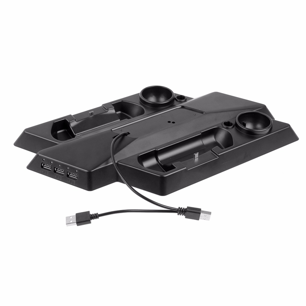 Multifunctional Dual controller Charging Station Stand Charger Dock Game Console Storage Holder for PS4 Pro/Slim Controller VR