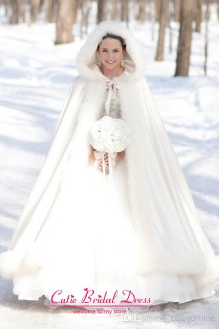 Winter Bridal Cape White Faux Fur Coat Wedding Perfect For Long Wraps Jacket
