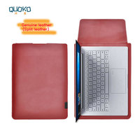 Arrival selling ultra thin super slim sleeve pouch cover,Genuine leather laptop sleeve case for HP Envy X360 13 15 2018