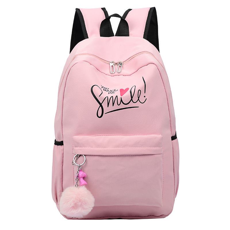 Preppy Style Fashion Women <font><b>School</b></font> Bag Brand Travel <font><b>Backpack</b></font> <font><b>For</b></font> Girls <font><b>Teenagers</b></font> Stylish Laptop Bag Rucksack girl schoolbag image