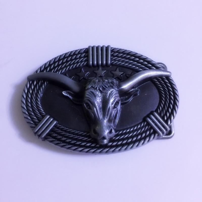 5afd151eb3e9 Détail En Gros Occidentale De Haute qualité Ovale 3D Argent Bull Tête  Cowboy ceinture Avec Boucle En Métal Hommes de Ceinture Tête Fit 4 cm  Wideth Ceinture