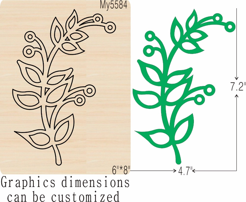 Green leaves 1 new wooden mould cutting dies for scrapbooking Thickness 15 8mm