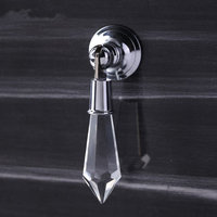 Clear Crystal Drawer Pulls Drop Bright Silver Sparkly Dresser Handles Knobs Decorative Furniture Hardware Kitchen Cupboard