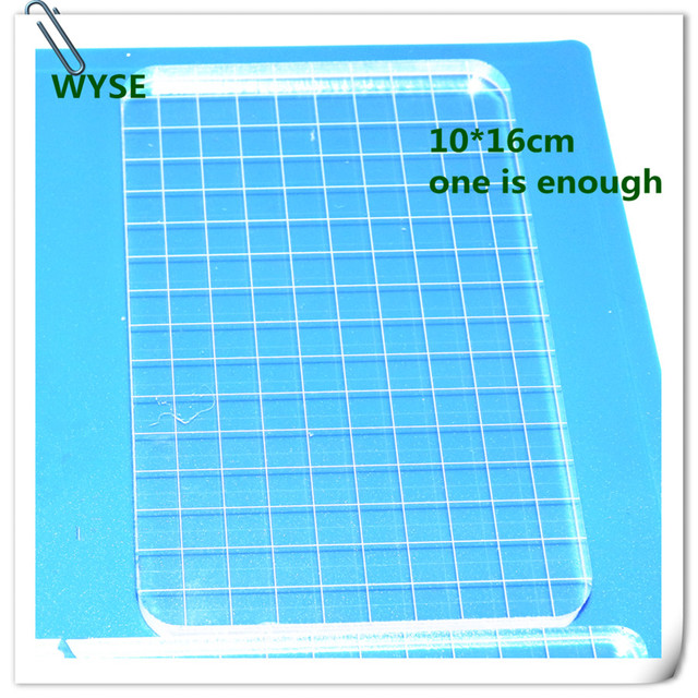 big size clear stamp block with grid transparent stamp holder