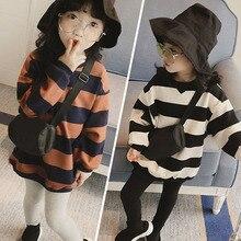 Толстовки с капюшоном для девочек; коллекция года; Одежда для маленьких девочек; сезон весна-осень; детская толстовка с капюшоном для девочек; детские топы в полоску с длинными рукавами; футболки
