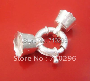 5pcs/lot 925 Solid Sterling Silver Spring lock Jumbo link 3.5x16mm FIT Genuine 925 silver jewelry Necklace DIY