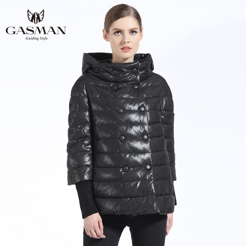 GASMAN 2019 hiver femmes manteau bas marque de mode femmes veste hiver femmes doudoune et manteaux Parka pour filles pardessus