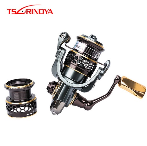 TSURINOYA Double-Spool-9--1 Stainless-Steel Bearing Spinning-Reel Saltwater 2000 1000