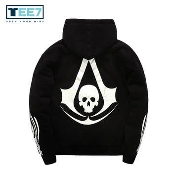 Assassins Creed Cotton Hoodies Logo Fashion Long Sleeve hick Sweatshirts Great quality