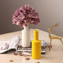 Modern Simplicity Ceramic vase Dry flowers Hydrangea Crafts tabletop  Fashion small Home Wedding Decoration