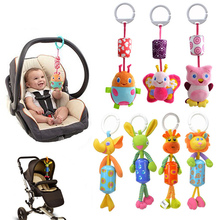 Toys Bed-Bells Rattles Hanging-Ring Baby Bed Animal-Doll Plush Infant Mini Car Musical