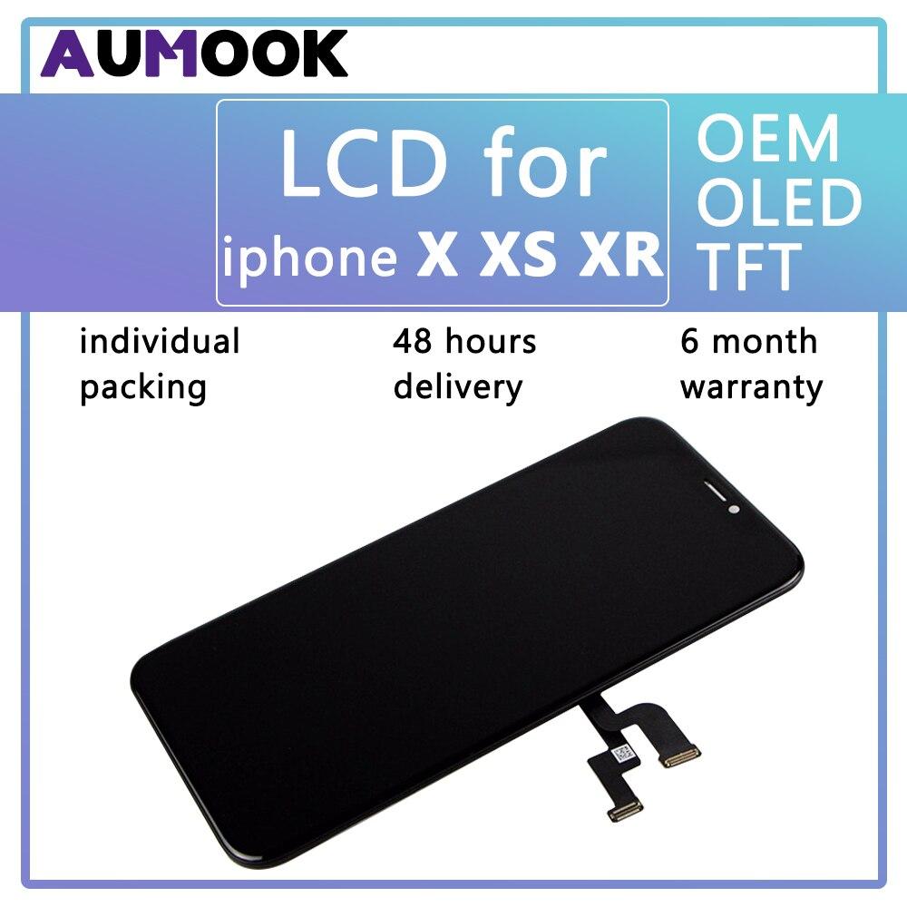 Pour IPHONE X XS XR LCD Affichage 3D Écran Tactile OEM Oled TFT Digitizer Assemblée LCD de Remplacement pour IPhone X XS XR LCD Pantalla
