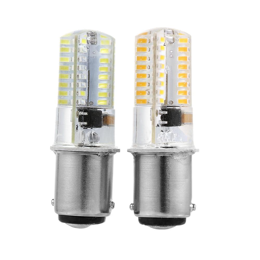 1 шт. высокое качество белый/теплый белый 110/120 в BA15D светодиодный лампы кукурузы 2,6 Вт 3014 64SMD лампы для швейной машины энергосберегающие лампы
