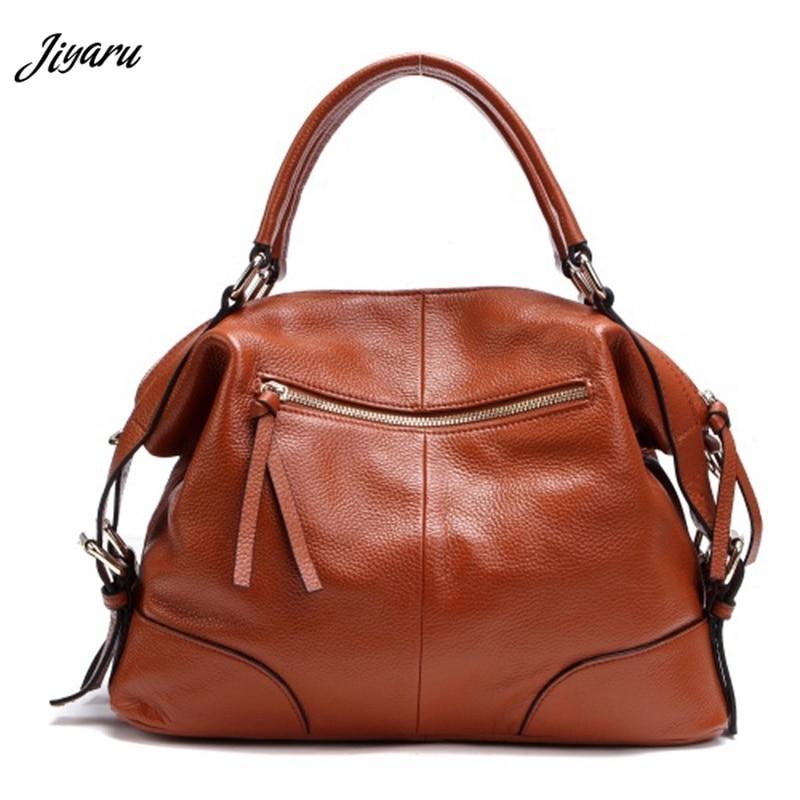 все цены на Women's Handbag Fashion Satchel Purse Clutch Bag Real Genuine Leather Shoulder Bags Messenger Hobo Mother's Day Gift онлайн