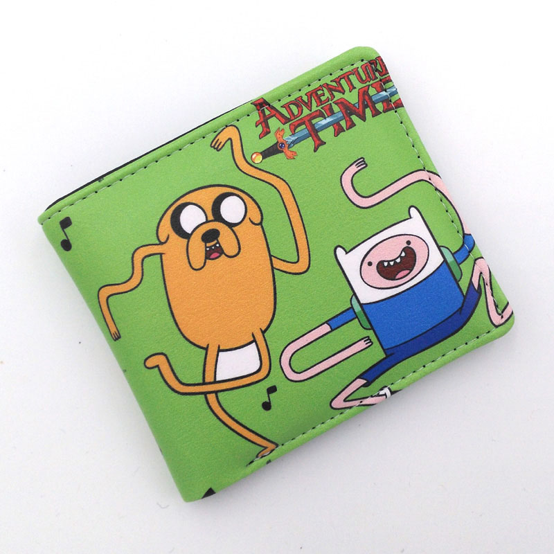 Adventure Time Finn and Jake Colorful Student Folding Wallet/High Quality PU Short Cartoon Purse Free Shipping ajax sc heerenveen