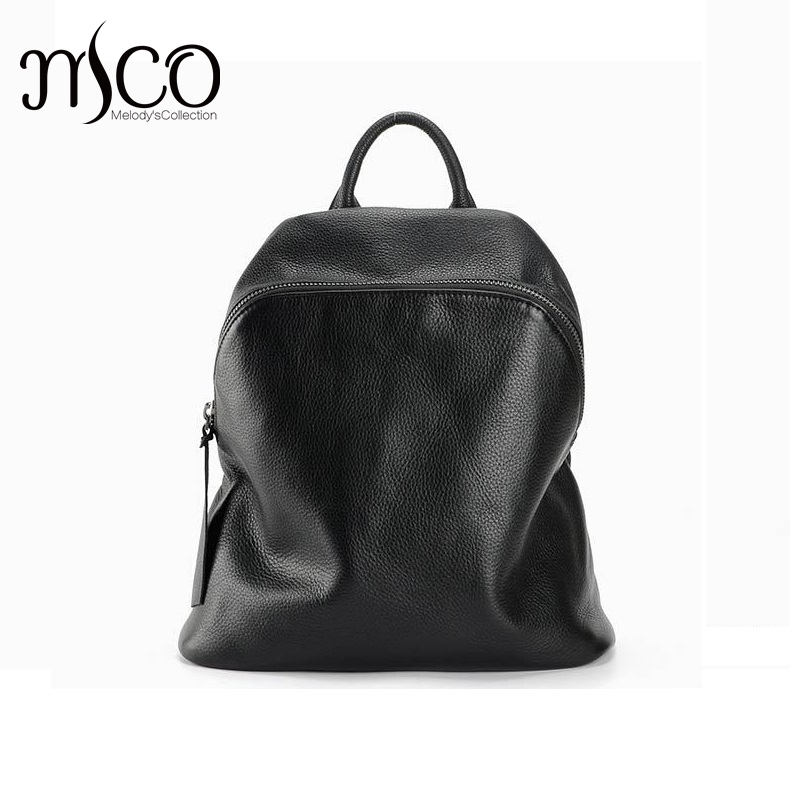 Mochila feminine backpack rucksack genuine leather school bags for teenagers fashion backpack youth black women bag sac a dos