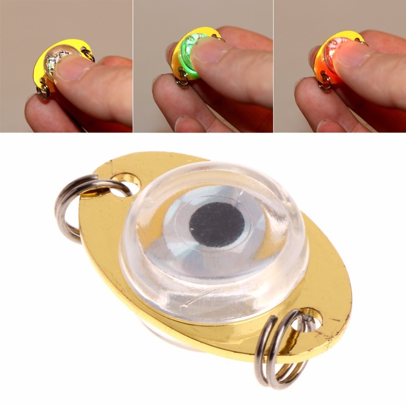 Button Battery Fishing Lamp Fishing Lure Light LED Underwater Eye Shape Night Lights Tool High Quality Simulation Attract Fish