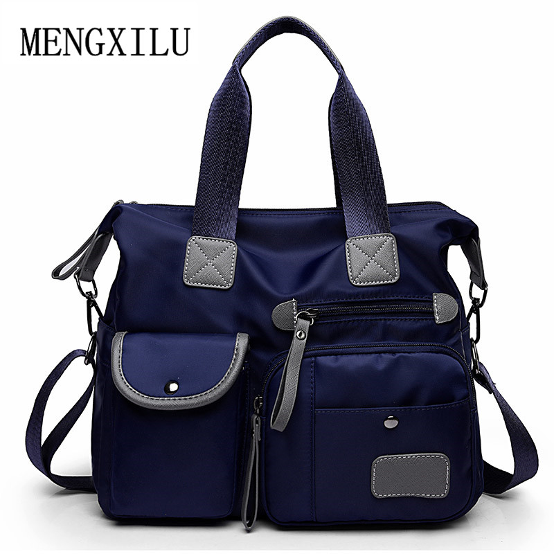 Multifunction Luggage Nylon Handbag Women Message Shoulder Bag Fashion Large Female Totes Bolsas Trapeze Ruched Women Travel Bag 2017 fashion canvas women handbag hot sell female tote bolsas trapeze ruched solid shoulder bag casual large capacity tassel bag