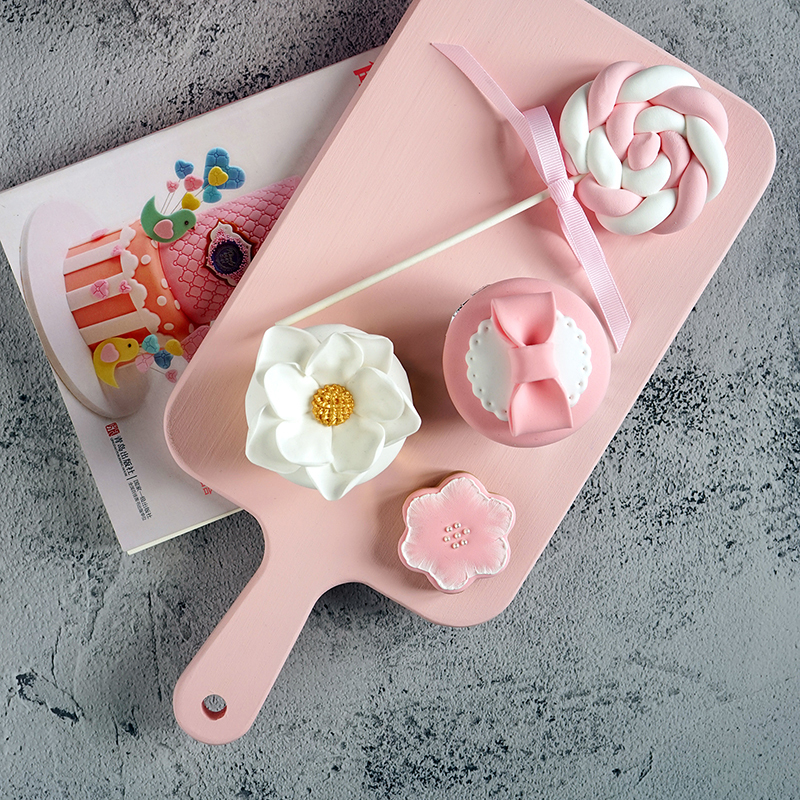 Colored cake plate afternoon tea dessert tray macaroon chopping board cake stand in cake modle
