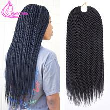 Wyrafinowane włosy 14 18 22Inch 30Roots senegalski twist szydełkowe włosy twist warkocze Ombre Kanekalon plecionka syntetyczne włosy na warkocz tanie tanio W mieście kanekalon 30nitki opakowanie