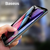 Baseus 5D Screen Protector For iPhone 7 8 Tempered Glass Full Screen Anti Blue Light Front Glass For iPhone 7 Plus 8 Plus Glass Phone Screen Protectors