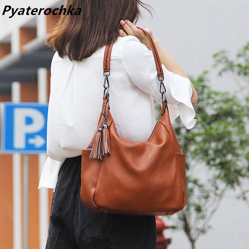 Ladies Shoulder Crossbody Tote Bag Brown Tassel Genuine Leather Handbags Bags For Women Luxury Brand Casual Handbag Hand bag Bao вентилятор 80x80 noctua nf r8 redux 1800p 325 1800rpm