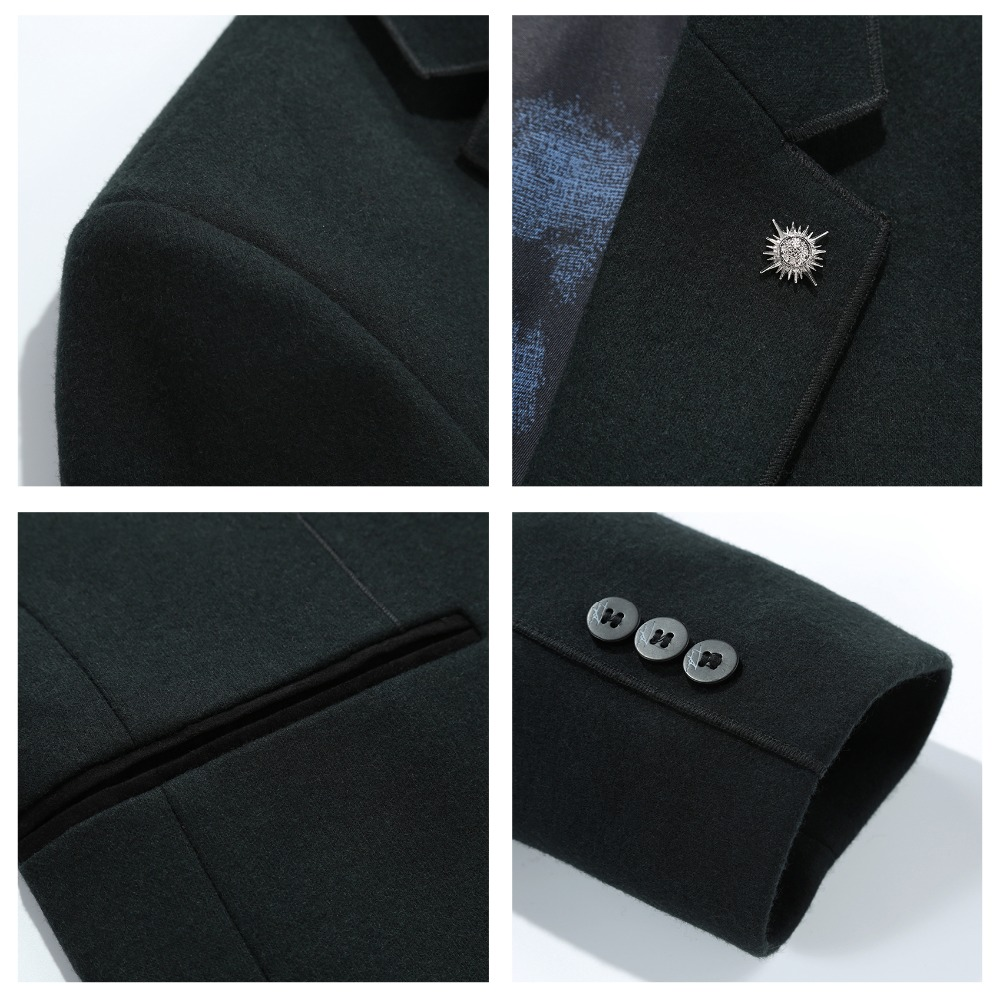 N&B Men Suit Jacket Dress Blazers Mens Frock Coat Man Dress Slim Fit Casual Blazer Night Club Coats Jackets Suits for Men SR11 - 6