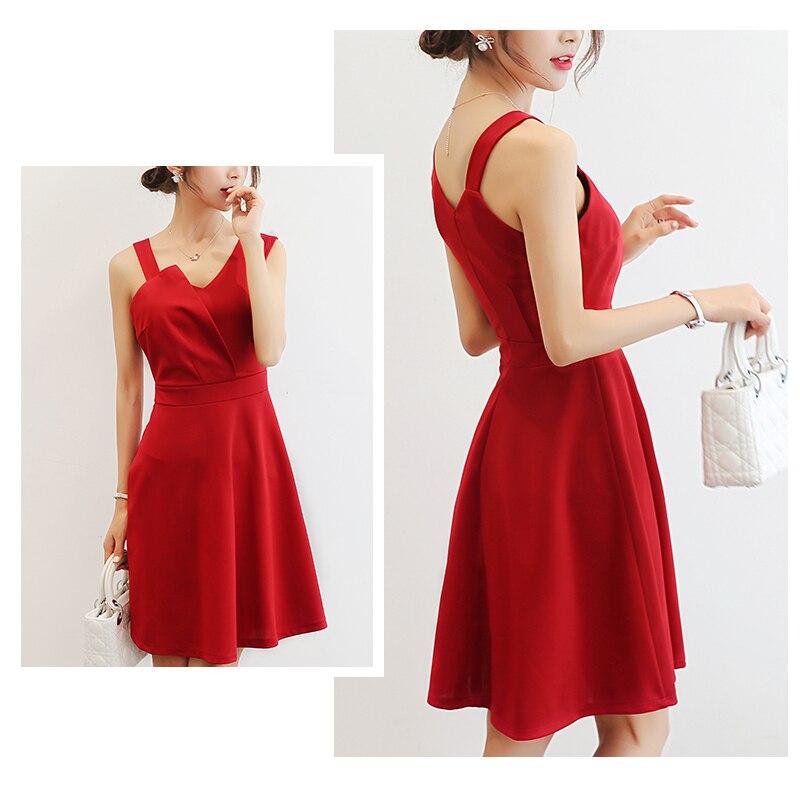 2018 women Elegant High Quality Women Sleeveless Slim Casual Dresses Women Dresses Summer Fashion Solid Irregular sleeve dress