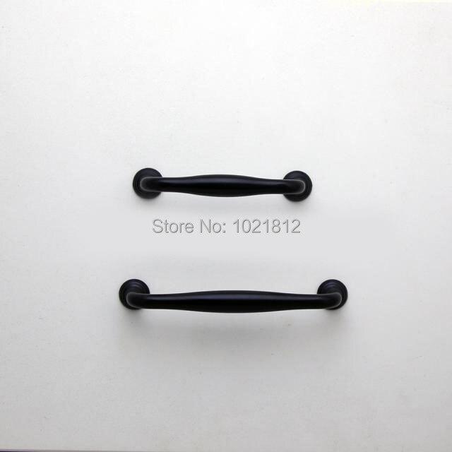 Античный Черный Amerian ручки для мебели ящик ручки дверные ручки Кухня Ручка Home Decor 96/128 мм расстояние между отверстиями