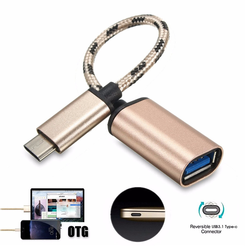 usb 3.1 type-c male to usb 2.0 type-a female adapter and otg cable for mobile phone and laptop
