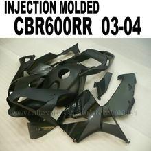 Custom 100% INJECTION Bodyworks For Honda Fairing Kits Cbr600 2003 2004 CBR 600 RR 03 04 CBR 600RR Flat Black Fairings Set