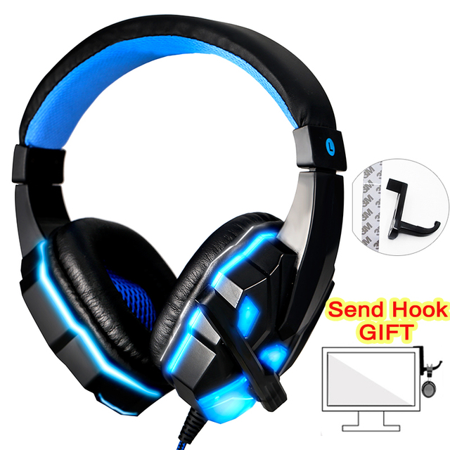 Auriculares de juego Senstive para Gamer sonido estéreo con cable auriculares de cancelación de ruido para ordenador teléfono móvil Xbox One con micrófono y LED