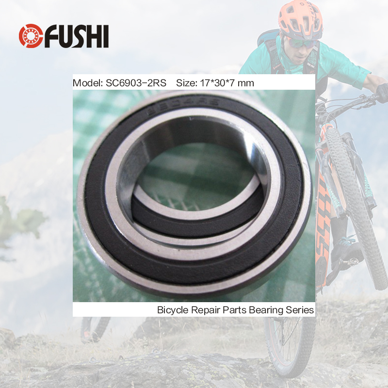 6903-2RS Stainless Bearing 17*30*7 mm ( 1 PC ) ABEC-3 6903 RS Bicycle Hub Front Rear Hubs Wheel 17 30 7 Ceramic Balls Bearings abxg 23327 2rs speed connection drum bearing 23327 2rs for sram bicycle hub repair parts bearing 23x32x7 mm 23 32 7 mm