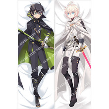 Japanese Anime Seraph of the end  Yuichiro Hyakuya Hugging Pillow Cover Case Pillowcases Decorative Pillows 2Way 50X160CM anime seraph of the end cosplay yuichiro hyakuya backpack anime cartoon second element middle school student bag female backpack