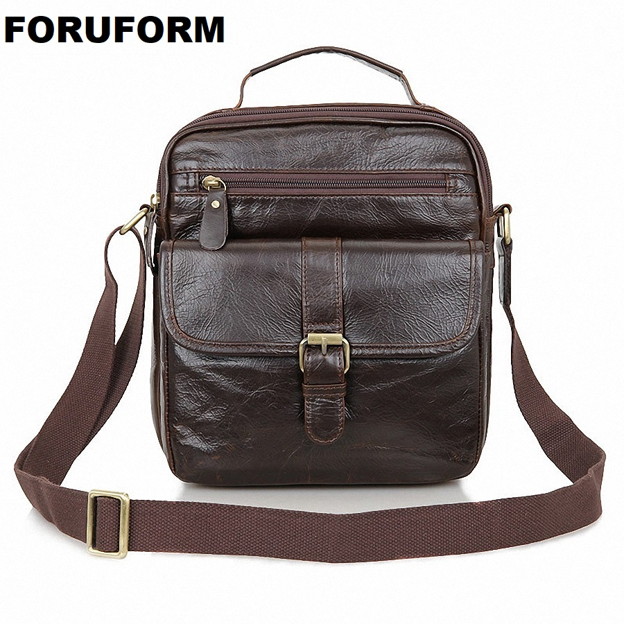 Business Genuine Leather Men messenger Bags High Quality Fashion Men's Shoulder Bag Casual Vintage Briefcase Laptop Bag LI-1543 high quality casual men bag