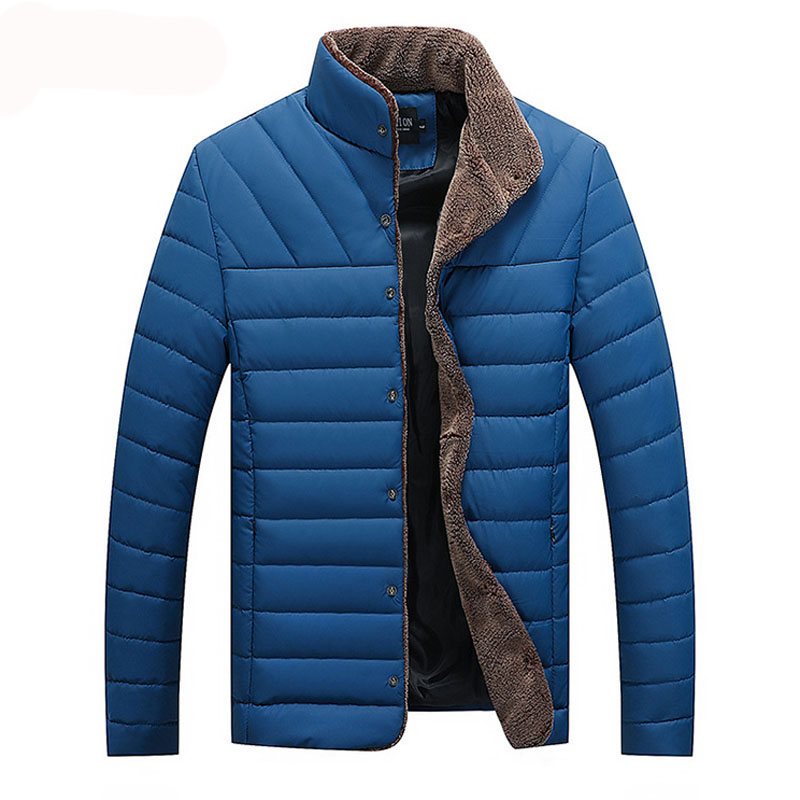 Winter Jacket Warm Casual All-Match Single Breasted Solid Men Coat Popular Coat
